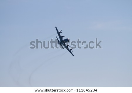 TORONTO, ON - SEPT 1: Canadian National Exhibition Air Show on September 1, 2012, in Toronto, ON. - stock photo