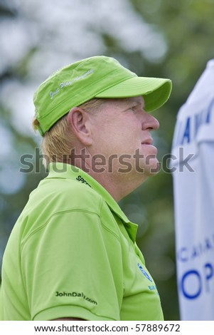 TORONTO, ONTARIO - JULY 21: US golfer John Daly during a pro-am event at the RBC Canadian Open,   St. George's  Golf and Country Club,  July 21, 2010 in Toronto, Ontario.