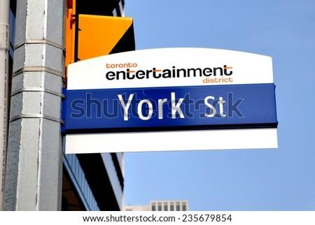 Toronto's York street sign - stock photo