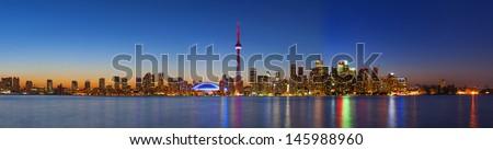 Toronto skyline panorama - stock photo