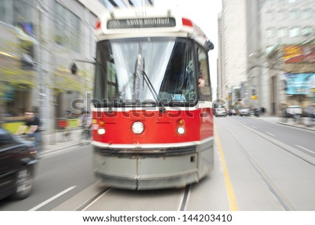 Toronto Streetcar - stock photo