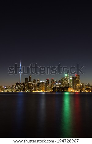 Toronto Vertical Cityscape at Night