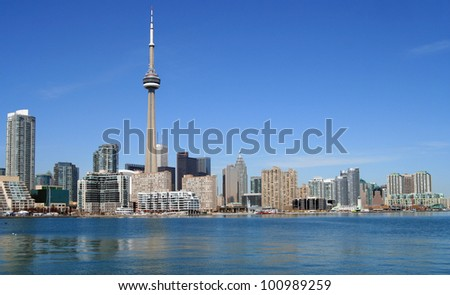Toronto waterfront skyline