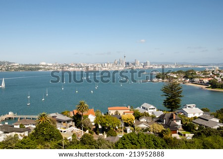 Torpedo Bay - Auckland - New Zealand - stock photo
