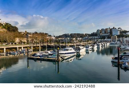 Torquay Harbour South Devon England - stock photo