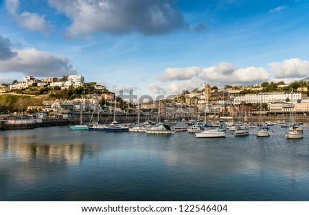Torquay Inner Harbour, Devon, England - stock photo