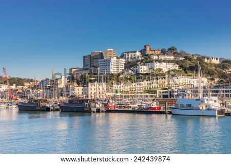Torquay marina and harbour - stock photo