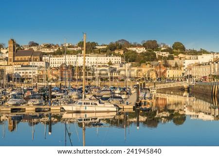 Torquay Marina in South Devon - stock photo
