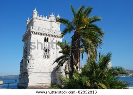 Torre de Belem in Lisbon, Portugal - stock photo