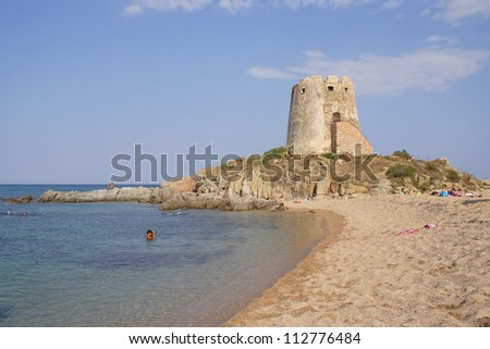 Torre di Bari, Sardinia, Italy - stock photo