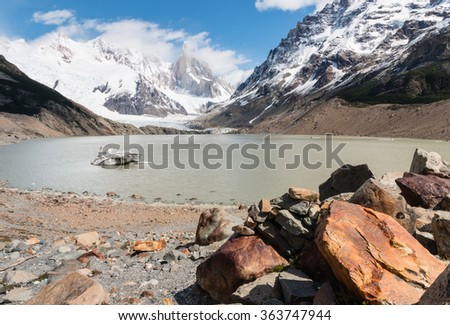 Torre glacier and laguna Torre in Southern Patagonia, Argentina