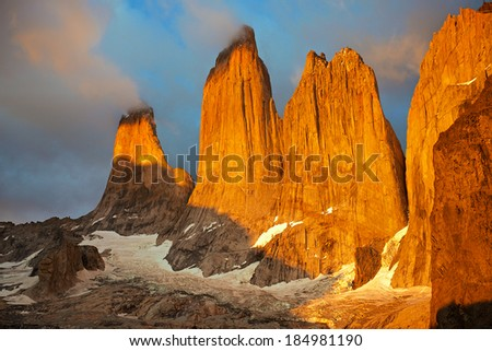 Torres del Paine morning