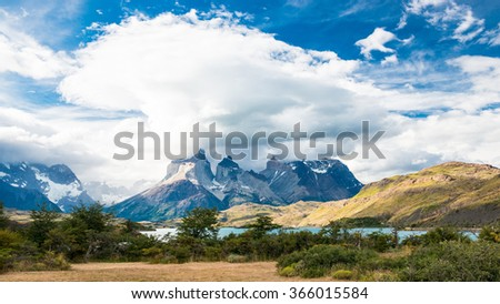 Torres del Paine National Park - stock photo