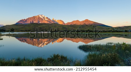 Torres del Paine National Park, Chile - stock photo
