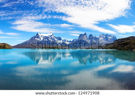 Torres del Paine National Park, Patagonia, Chile, South America - stock photo