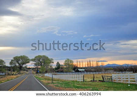 TORREY, UTAH, USA - APRIL 21, 2014 :  Torrey is the gateway to Capitol Reef National Park, the pretty little tree-filled town of Torrey is one of Southern Utah's jewels.