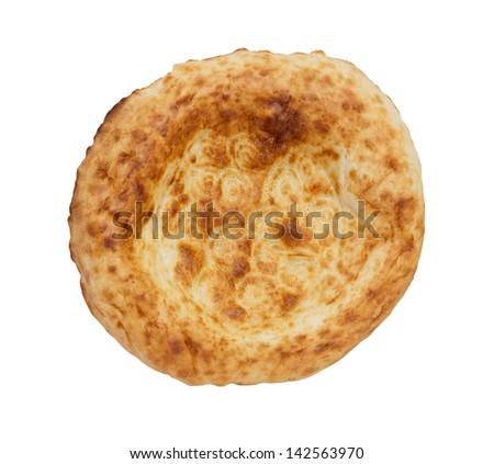 tortilla bread on a white background - stock photo
