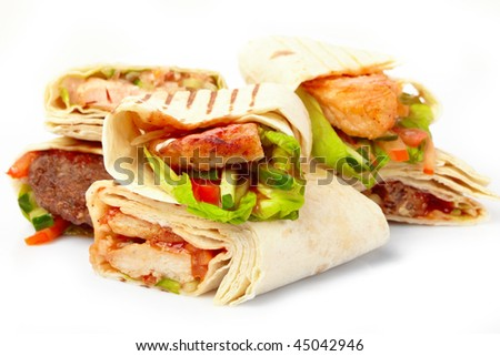 tortilla with vegetables - stock photo