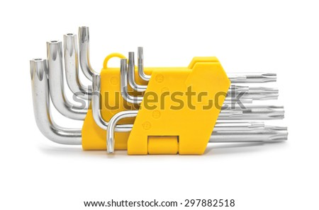 torx key set - stock photo