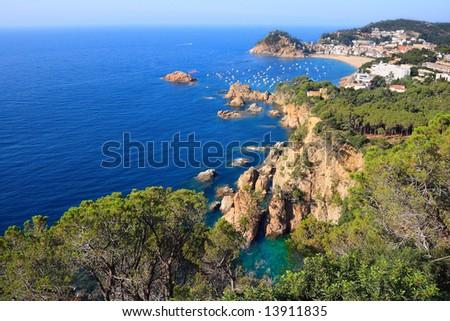 Tossa de Mar (Costa Brava, Catalonia, Spain) - stock photo