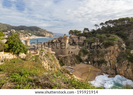 Tossa de Mar in  Girona, Spain - stock photo