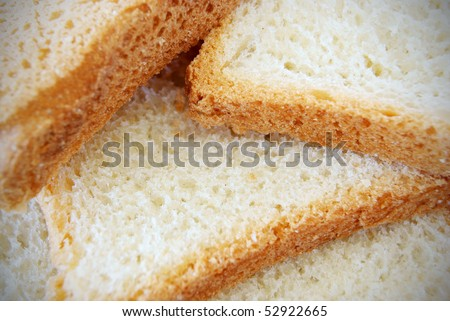 tost background - stock photo