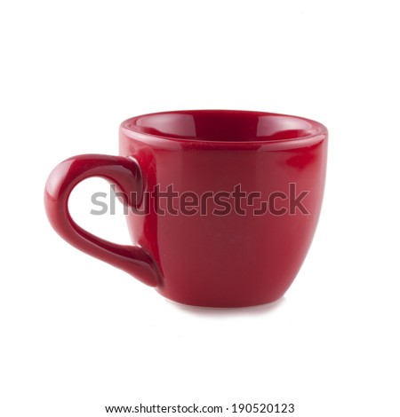 Total red cup for coffee, isolated over white background