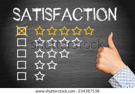 Total Satisfaction - Five Stars - stock photo