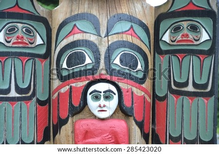Totem Pole - stock photo
