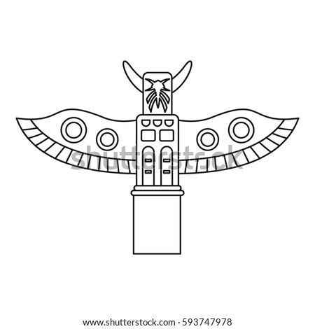 totem pole icon outline illustration of totem pole icon for web