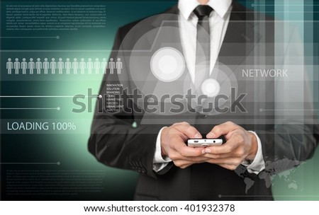 Touch. - stock photo