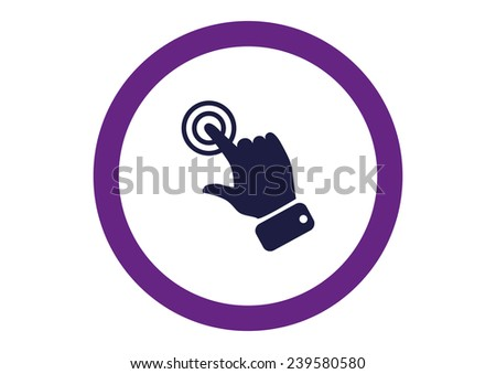 touch operation, web icon.  - stock photo