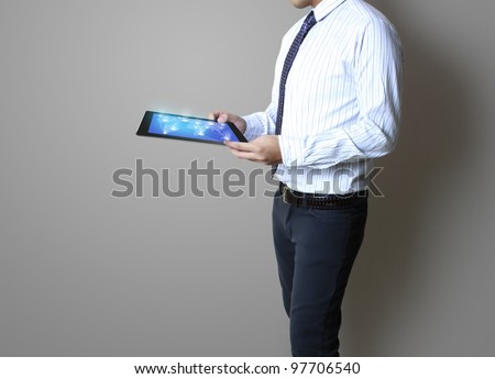 touch pad concept - stock photo