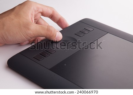 Touch pad for retouch a photo