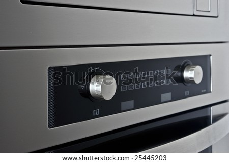 touch panel control furnace 2 - stock photo