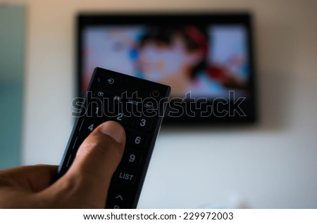 Touch remote control television