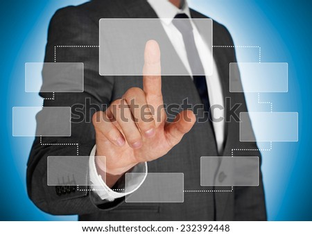 Touch screen concept - stock photo
