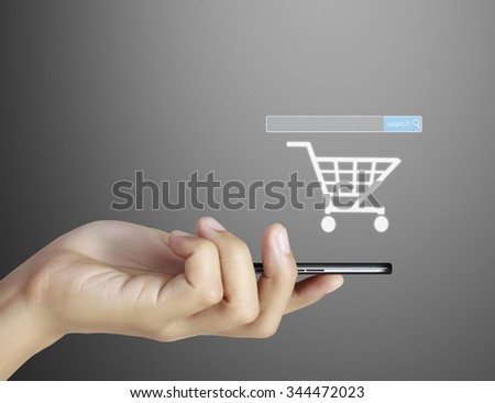 Touch screen Smart phone , in hand
