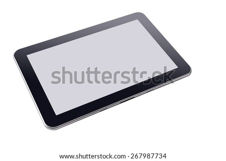Touch screen tablet PC Isolated on white - stock photo