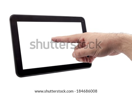 Touch Screen Tablet pointing with finger