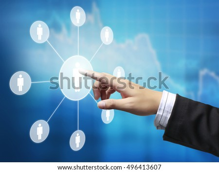 Touch Screen virtual icon of social network