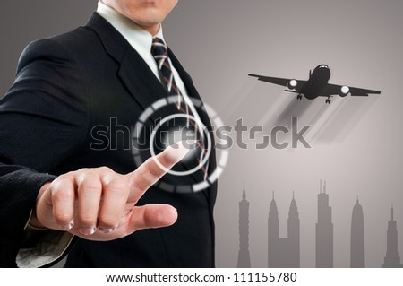 touching for travel in the  world - stock photo