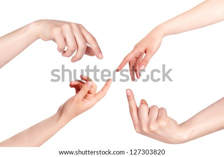 Touching Hands isolated