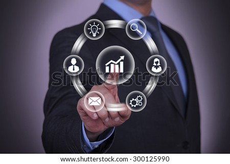Touching Success Gear Concept  - stock photo