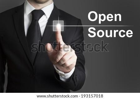 touchscreen button open source - stock photo