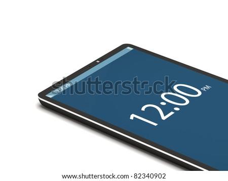 Touchscreen Smart Phone on White Background - stock photo