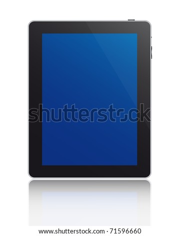 Touchscreen tablet. Vector available.