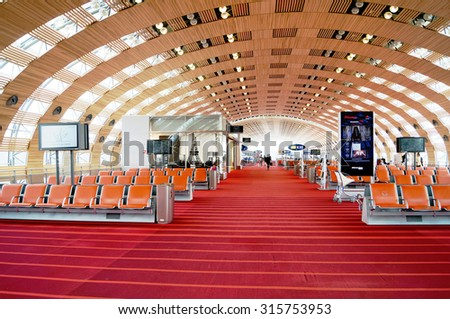 TOULOSE, FRANCE - JULY 9, 2015: Charles DeGaulle Airport, CDG