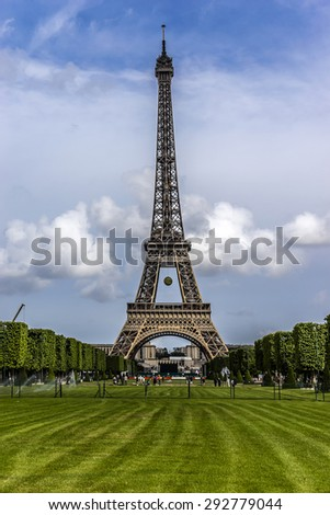 Tour Eiffel (Eiffel Tower) located on Champ de Mars in Paris, named after engineer Gustave Eiffel. Eiffel Tower is tallest structure in Paris and most visited monument in the world. France