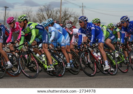 tour of california bike race - stock photo